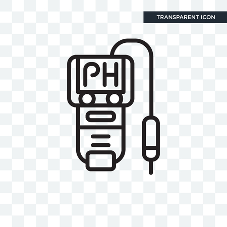 Ph meter vector icon isolated on transparent background, Ph meter logo concept 向量圖像