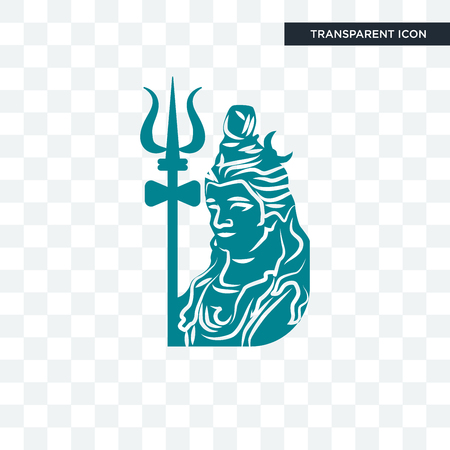 lord shiva vector icon isolated on transparent background, lord shiva logo concept