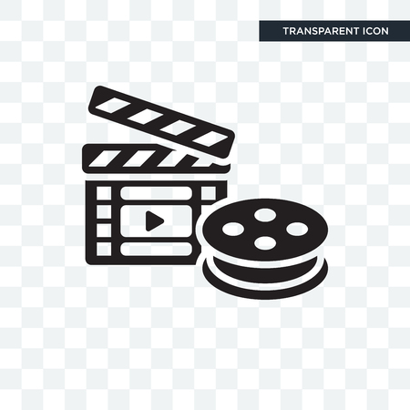 Movie vector icon isolated on transparent background, Movie logo concept