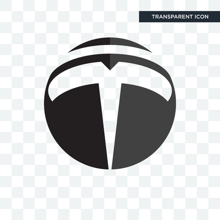 tesla vector icon isolated on transparent background, tesla logo concept