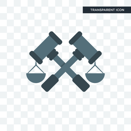 judiciary vector icon isolated on transparent background, judiciary logo concept