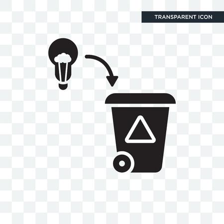 Bad Idea vector icon isolated on transparent background, Bad Idea logo concept