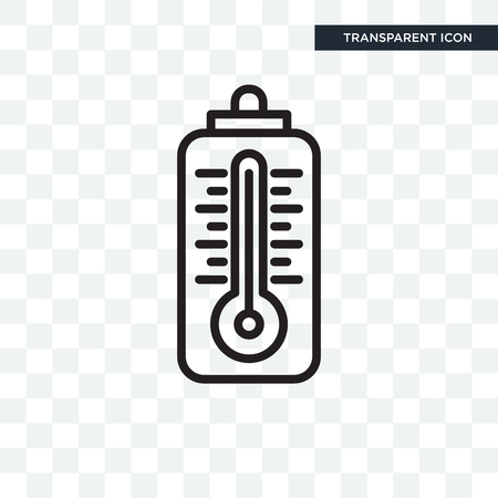 Thermometer vector icon isolated on transparent background, Thermometer logo concept Logo