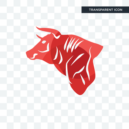 bull vector icon isolated on transparent background, bull logo concept Stockfoto - 107558245