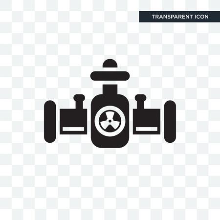 Icono de vector de tubos aislado sobre fondo transparente, concepto de logo de tubos