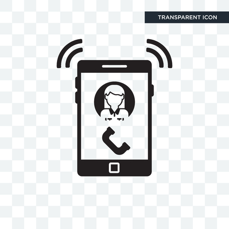 Ringing vector icon isolated on transparent background, Ringing logo concept