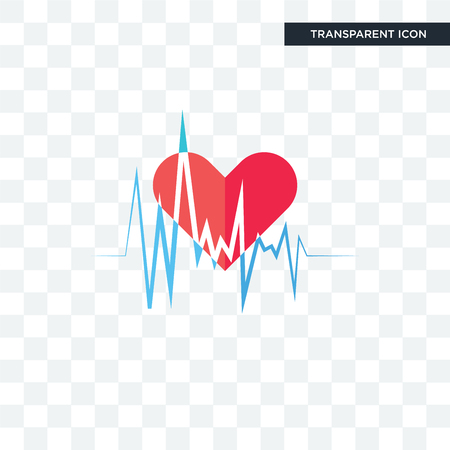 heartbeat vector icon isolated on transparent background, heartbeat logo concept