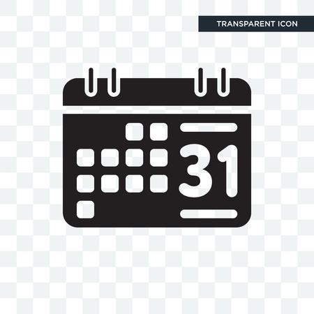 Icône de vecteur de calendrier hebdomadaire isolé sur fond transparent, concept logo calendrier hebdomadaire Logo