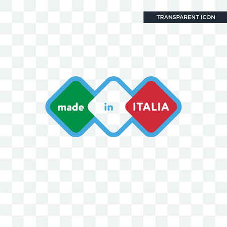 made in italia vector icon isolated on transparent background, made in italia logo concept Illustration