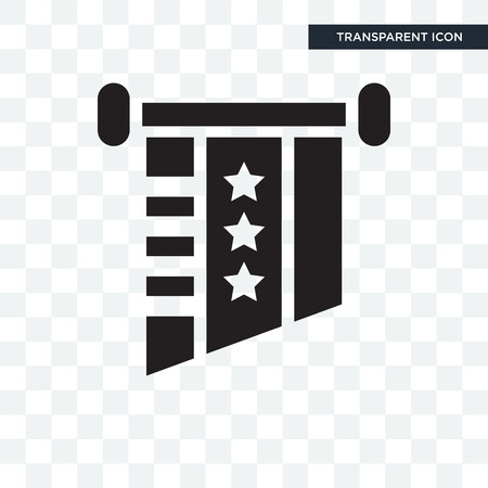 United states vector icon isolated on transparent background, United states logo concept