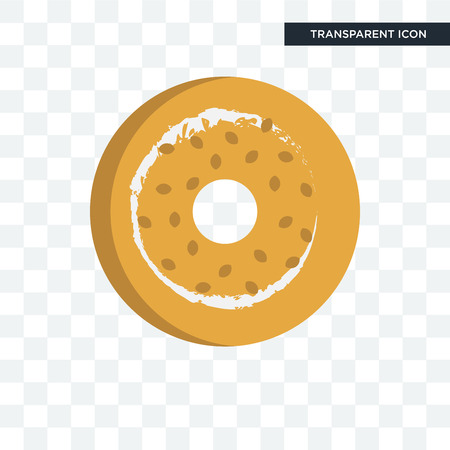 bagel vector icon isolated on transparent background, bagel logo concept 向量圖像