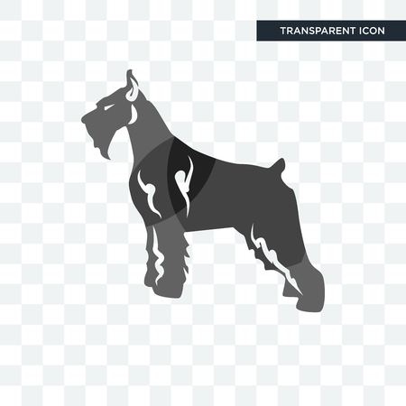 schnauzer vector icon isolated on transparent background, schnauzer logo concept Иллюстрация