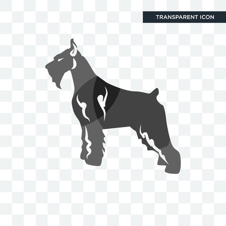 Schnauzer-Vektorikone lokalisiert auf transparentem Hintergrund, Schnauzer-Logo-Konzept