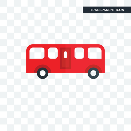 bus vector icon isolated on transparent background, bus logo concept Illustration