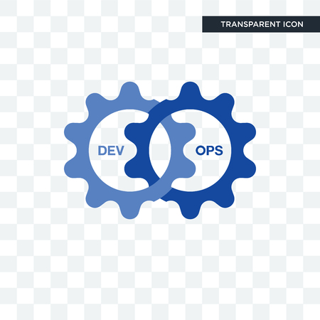 devops vector icon isolated on transparent background, devops logo concept