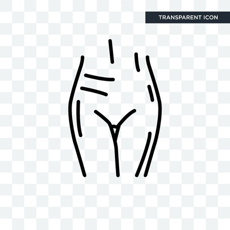 Female Pubis vector icon isolated on transparent background, Female Pubis logo concept