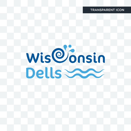 wisconsin dells vector icon isolated on transparent background, wisconsin dells logo concept