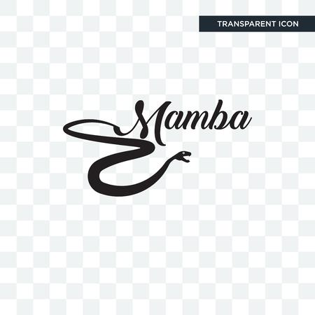 black mamba vector icon isolated on transparent background, black mamba logo concept