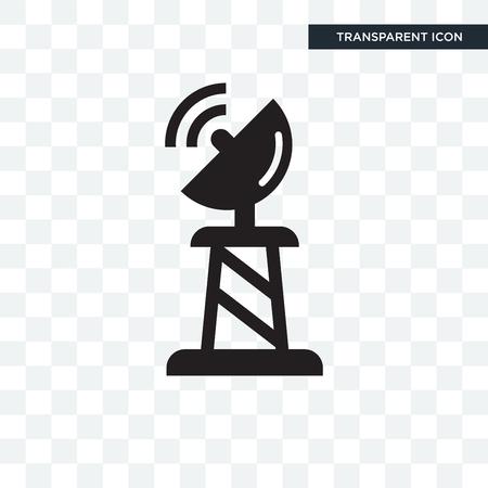 Satellite dish vector icon isolated on transparent background, Satellite dish logo concept