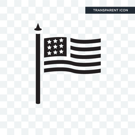 Flag vector icon isolated on transparent background, Flag logo concept Illustration