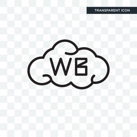 White balance vector icon isolated on transparent background, White balance logo concept