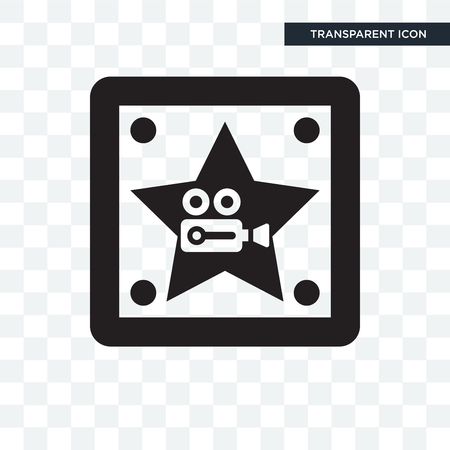 Walk of fame vector icon isolated on transparent background, Walk of fame logo concept