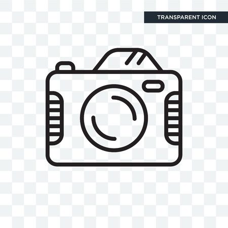 Camera vector icon isolated on transparent background, Camera logo concept