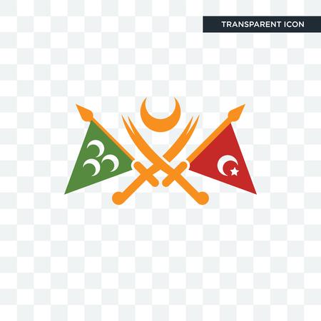 Icône de vecteur d'empire ottoman isolé sur fond transparent, concept logo empire ottoman