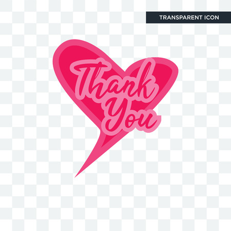 thank you vector icon isolated on transparent background, thank you logo concept