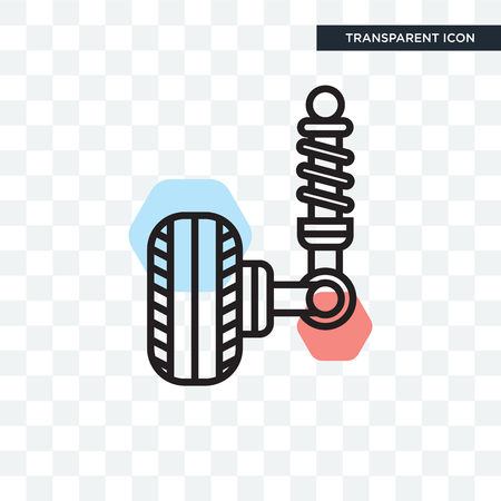 Suspension vector icon isolated on transparent background, Suspension logo concept
