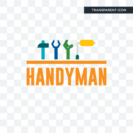 handyman vector icon isolated on transparent background, handyman logo concept