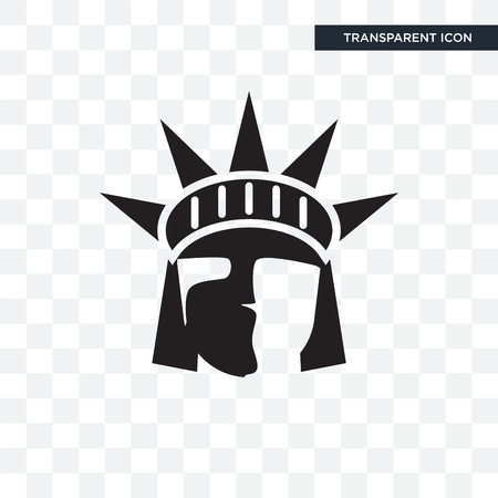 Statue of liberty vector icon isolated on transparent background, Statue of liberty logo concept Çizim