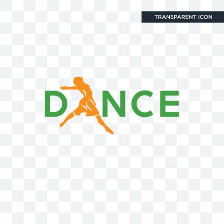 icône de vecteur de danse isolé sur fond transparent, concept de logo de danse