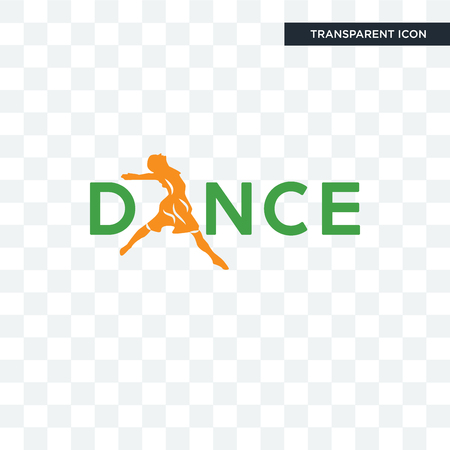 dance vector icon isolated on transparent background, dance logo concept