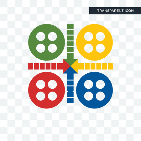 ludo vector icon isolated on transparent background, ludo logo concept