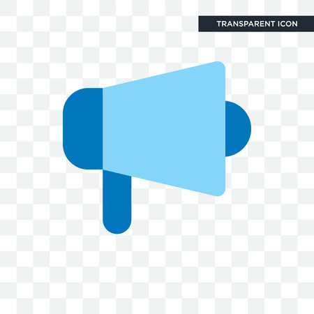 Megaphone vector icon isolated on transparent background, Megaphone logo concept  イラスト・ベクター素材