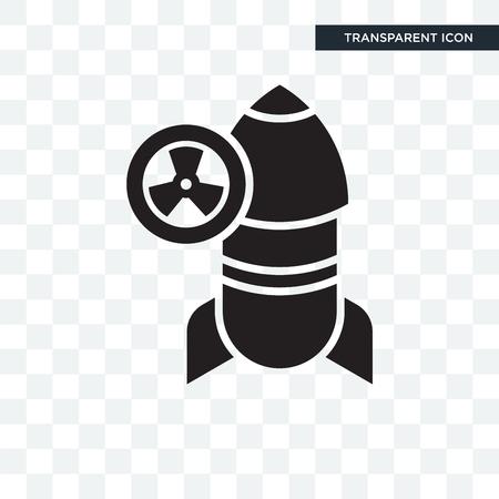 Icône de vecteur de bombe isolé sur fond transparent, concept logo bombe
