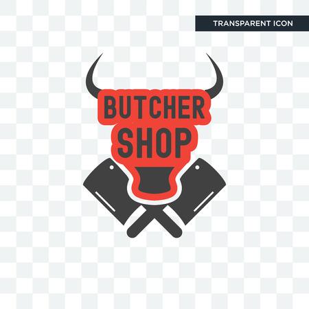 butcher shop vector icon isolated on transparent background, butcher shop logo concept