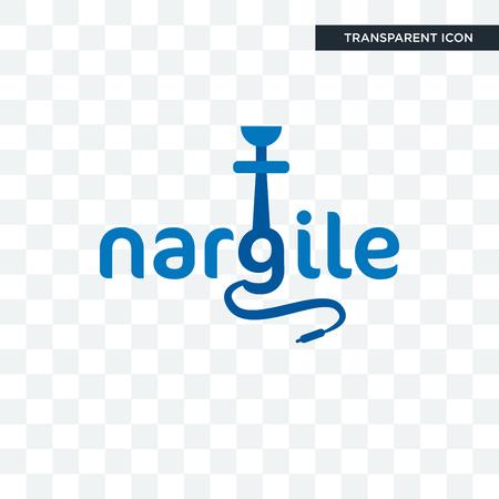 nargile vector icon isolated on transparent background, nargile logo concept Illustration