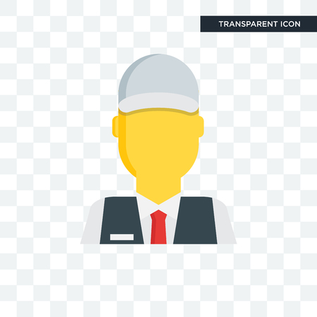 Clerk vector icon isolated on transparent background, Clerk logo concept