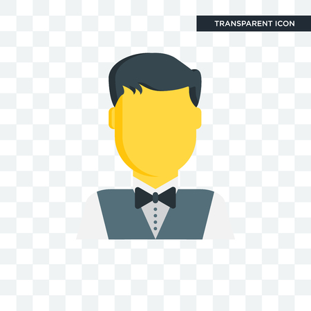 Waiter vector icon isolated on transparent background, Waiter logo concept