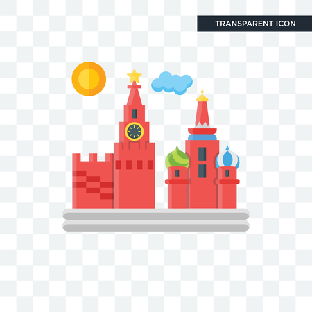 Moscow vector icon isolated on transparent background, Moscow logo concept Illustration