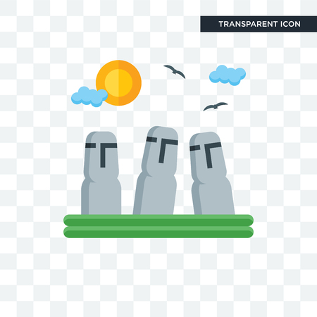 Easter Island vector icon isolated on transparent background, Easter Island logo concept Stock Vector - 107901273