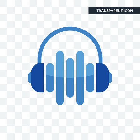 audio visual vector icon isolated on transparent background, audio visual logo concept