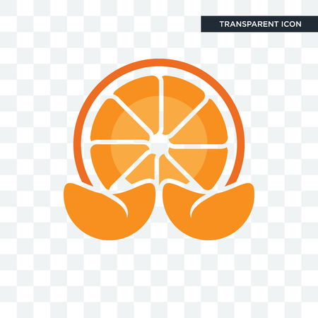 mandarin vector icon isolated on transparent background, mandarin logo concept