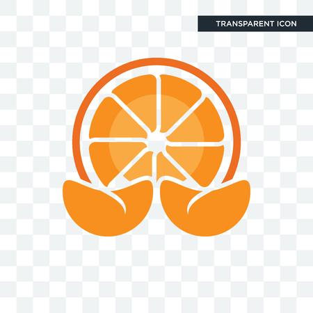 icona di vettore di mandarino isolato su sfondo trasparente, concetto di marchio di mandarino