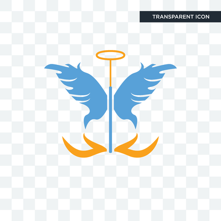 guardian angel vector icon isolated on transparent background, guardian angel logo concept