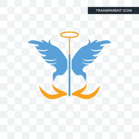 Icône de vecteur ange gardien isolé sur fond transparent, concept logo ange gardien