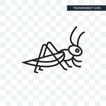Locust vector icon isolated on transparent background, Locust logo concept
