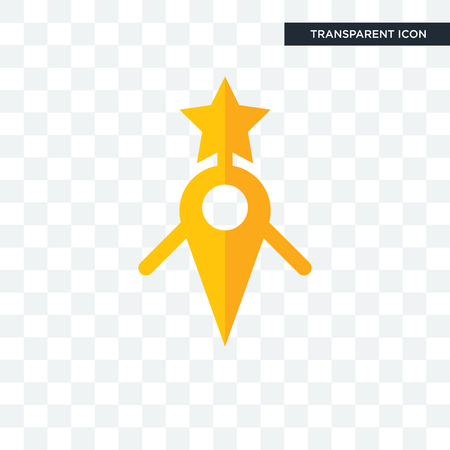 guidestar vector icon isolated on transparent background, guidestar logo concept Illustration